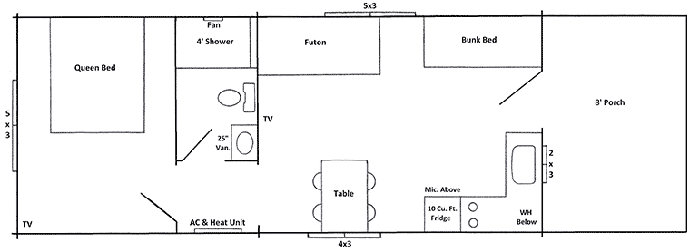 Shenandoah Log Cabin Rental Floor Plan